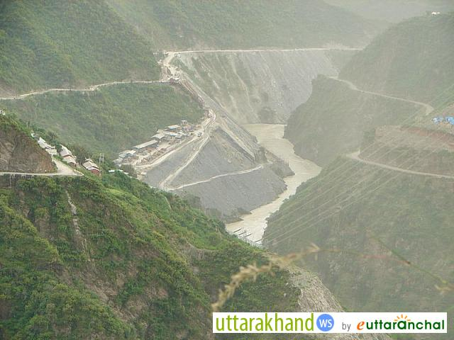 The other end of Tehri Dam